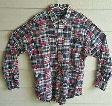 Polo Ralph Lauren  Madras Patchwork Shirt 90's style, SzLarge Made in India