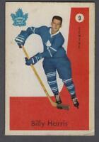 1959-60 Parkhurst Toronto Maple Leafs Hockey Card #9 Billy Harris