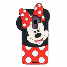 Samsung Galaxy S9 Plus 3D Case Silicone AntiScratch Cartoon Minnie Mouse Red