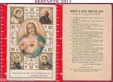 2102 SANTINO HOLY CARD DOLCE CUOR DEL MIO GESù FA CHE T'AMI SEMPRE PIù CUORE