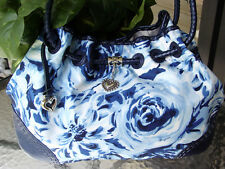BRIGHTON BLUE FLORAL LILLY REVERSIBLE TOTE