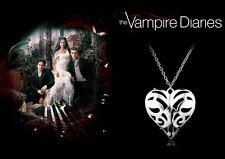 The Vampire Diaries Caroline Forbes Antique Silver 'Open Heart' Chain & Pendant