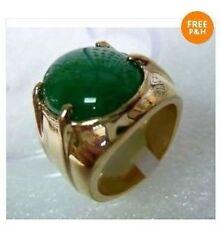 Tibet argent vert jade bague homme taille 10#