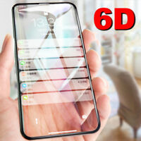 6D Curved Full Cover Tempered Glass Screen Protector For iPhone X XS 8 7 6 Plus