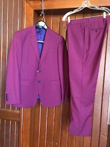 Paul Smith The Byard Purple Wool Mohair Suit Size 40R