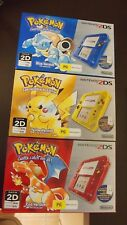 """BNIB"" Pokemon Nintendo 2DS 20th Anniversary Limited Edition Yellow, Red & Blue"