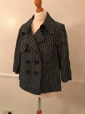 Spotted Cropped Cotton Outer Shell Coats, Jackets & Waistcoats for Women