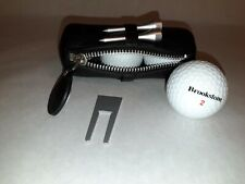 Brookstone Golf Case Balls Leather Case Tees Divot