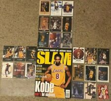 Slam Magazine Kobe Bryant Lakers Issue 24 March 1998 No Label AND LOT OF CARDS