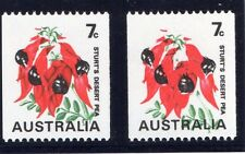 AUSTRALIA 1970-75 7c WITH BUFF (SHADOWS ON FLOWERS) OMITTED SG 468bb MNH.