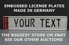 Qatar Arab Arabic UAE Euro European License Plate Number Plate Embossed Custom