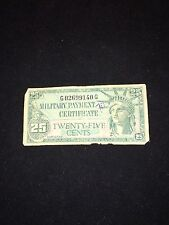 Military Payment Certificate 25 Cents Nd(1961) M45