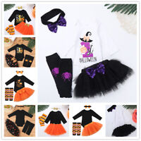 Infant Baby Girls Birthday Romper Costume Outfits Kids Party Jumpsuits Bodysuits