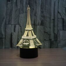 3D Lamp 3D Eifel Tower Optical Illusion Led Night Light 7 Colors Touch Switch
