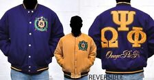NEW! Men's Omega Psi Phi Fraternity Reversible Jacket M