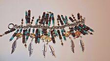 Turquoise, Jasper and Silver Charm Bracelet