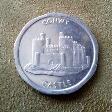 50p National Transport Aluminum Token, Conwy Castle - 29mm