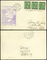 JUL 16 1929 Cristobal CANAL ZONE to CHARANAL CHILE, FAM 9-26b FF, Scott C-1 (3)!