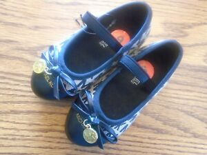 Michael Kors size 6 toddler black & beige Mary janes NEW