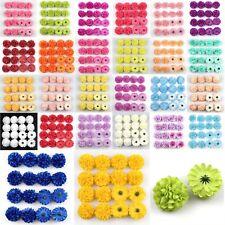 "100Pc 2"" Daisy Artificial Fake flower Silk Spherical Heads Bulk Wedding Decorate"