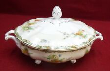 JOHNSON BROTHERS England china NINGPO Oval Covered Vegetable Serving Bowl crazed
