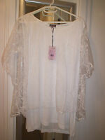 Phase Eight White Cecily Floral  Top sz 16 BNWT RP £49