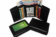 MENS LUXURY SOFT QUALITY LEATHER WALLET, CREDIT CARD HOLDER, PURSE BLACK 101