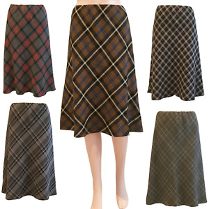 A LINE SHORT SKIRT FULLY LINED CHECK DESIGN WITH FULL ELASTIC WAIST & 5 COLOURS