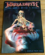 Megadeth - The World Needs A Hero 2001 World Tour Programme
