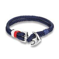 Men Bracelets Anchor Charm Nautical Survival Rope Chain Paracord Bracelet Sport