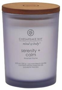 Chesapeake Bay Candle Mind and Body Medium Scented Candle Serenity Calm Lavend m