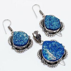 Titanium Druzy Handmade Ethnic Style Jewelry Set JB