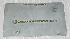 Rare Vintage Jet America Airlines Metal Ticket Validation Plate Travel Agency