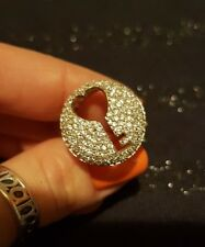924 silver ring. uk size m1/2. key ornament. SELLER AWAY FROM 19JUNE TO 2AUG