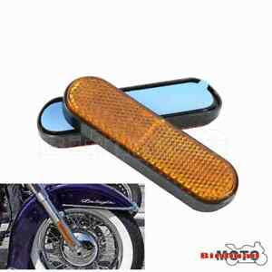 Motorcycle Plastic Front Fork Leg Reflector Reflective Sticker Universal Fits
