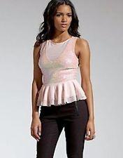 Sequin Waist Length Crew Neck Tops & Shirts for Women