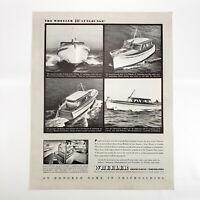 1946 Wheeler Shipbuilding Ad 40' Sunlounge Yacht Boat Vintage Boating Cruising
