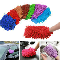 Soft Microfiber Car Window Washing Home Cleaning Cloth Duster Towel Gloves UK