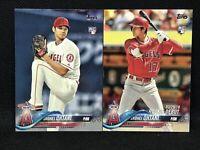 2 Card Lot 2018 Topps Baseball Shohei Ohtani Rookie RC LA ANGELS #700 Update 285