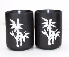 "Japanese 4-1/8""H Porcelain Tea Sushi Coffee Cup Bamboo Design Home Decor"