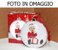 Palla pallina di Natale personalizzabile + foto in regalo - Christmas Ø 9 cm