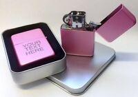 Engraved Pink Personalised Lighter Star Petrol boxed birthday wedding xmas gift