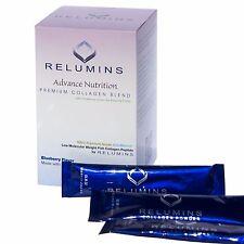 Relumins Premium Collagen Drink Powder - Blueberry Flavor w/ Glutathione & CoQ10