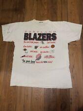 Vintage Single Stitch Portland Blazers  T-Shirt Single Stitch NBA