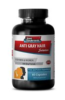 Help Gray Hair Go Away Pills - Anti-Gray Hair Solution 1500mg - L-Tyrosine 1B