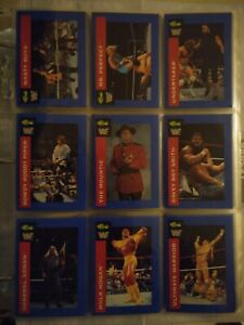 1991 Classic WWF Wrestling set of 150 cards with Undertaker rookie cards RC WWE