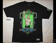 WWE Wrestling JOHN CENA Never Give Up Size Large Black T-Shirt