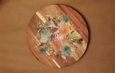 THE  PIONEER WOMAN WILLOW FLORAL PATTERN 12-INCH ACACIA WOOD LAZY SUSAN NEW
