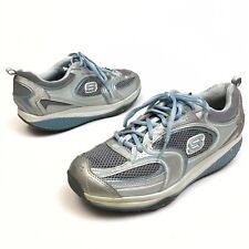 ✅❤️✅$ Skechers SHAPE-UPS Women's Shoes 10 Eu40 Sneakers Silver Rocker Walking