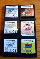 Nintendo DS GAMES Bundle, 6 Games, Carts Only, Tested LooK
